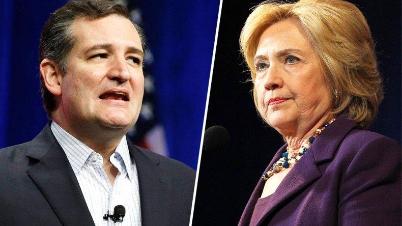 Ted Cruz entre los candidatos republicanos y Hillary Clinton entre los demócratas ganaron el primer round de las primarias.