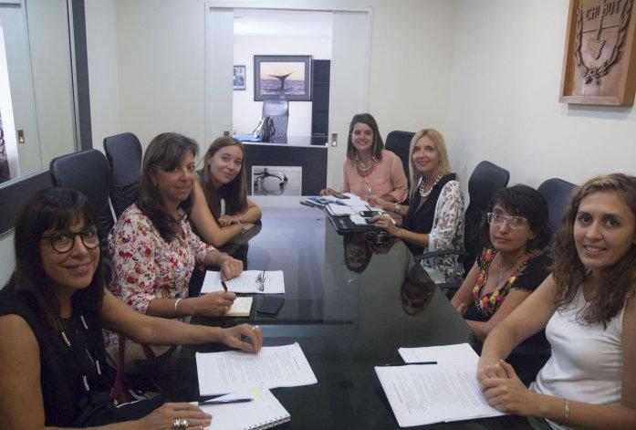 La reunión del área que encabezó la ministro Torrejón.