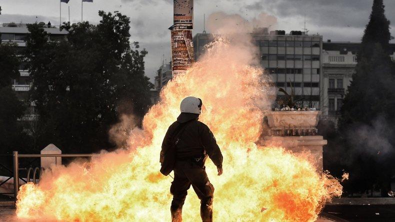 Los principales focos de violencia durante la protesta se registraron en la capital del país.