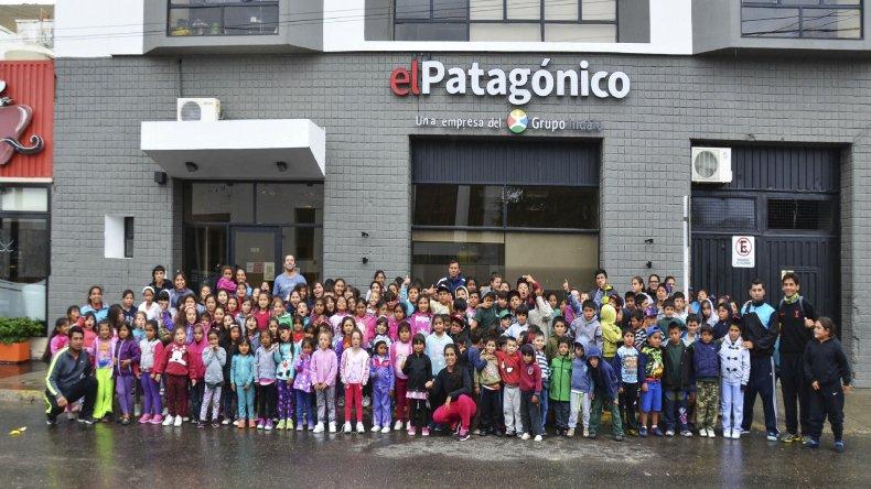 Los chicos de la colonia de verano de zona norte visitaron El Patagónico