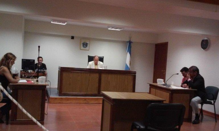 La audiencia que se realizó ayer para revisar la situación procesal de Walter Hernández.