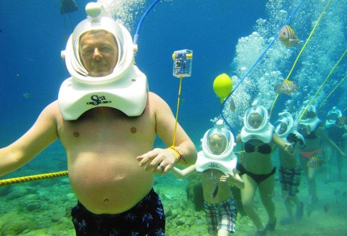 La claridad de sus aguas lo hacen uno de los lugares predilectos para la práctica de buceo en todos sus niveles.