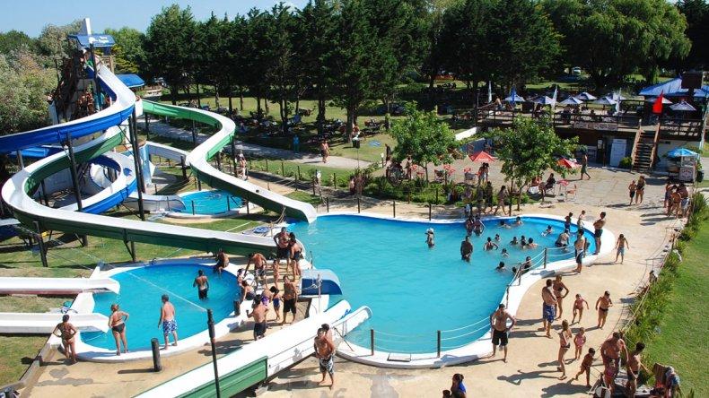 El Parque Acuático Poseidón está ubicado en la rotonda de acceso a Santa Teresita