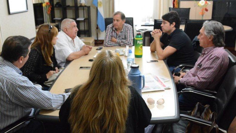 La reunión que Linares mantuvo ayer con referentes del Consejo de Localidad del PJ.