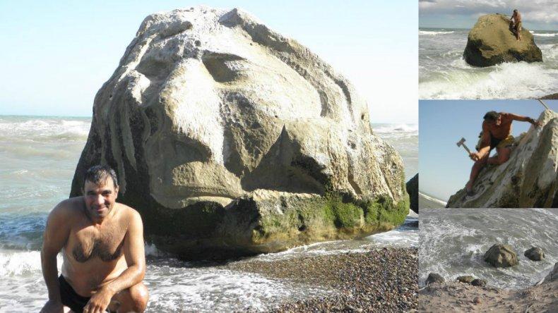 Un escultor chubutense se propone embellecer las costas de la Patagonia