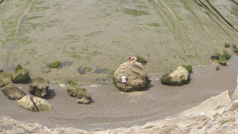 La vista desde el acantilado con la marea baja