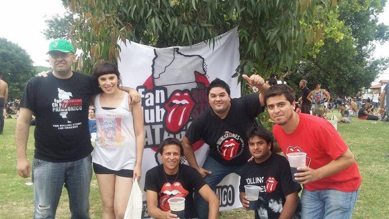 El Fan Club Patagónico Rolling Stones en La Plata 7 de febrero 2016. Foto: Facebook.