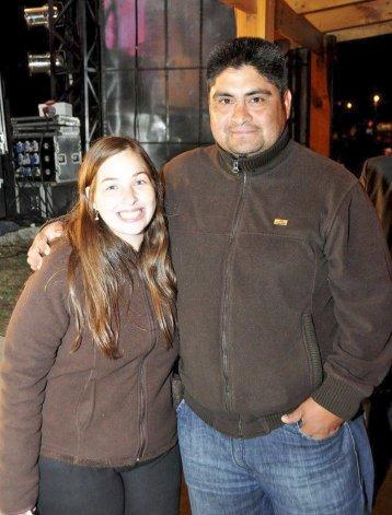 La pareja comodorense que se hizo acreedora de 20 mil pesos.