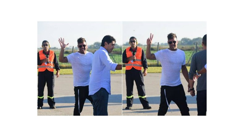Ricky Martin ya llegó al país