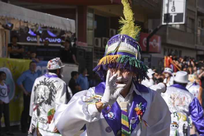 El cierre del carnaval comodorense. Foto: Mario Molaroni / El Patagónico.