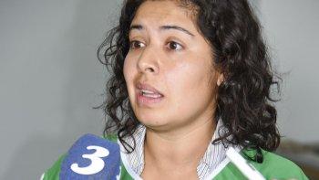 Marina González, una de las dirigentes que anunció la adhesión de ATE local al paro del 24.