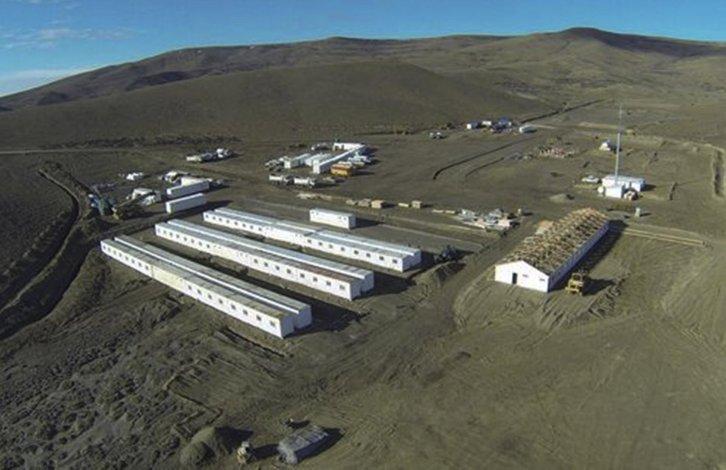 La UTE tiene instalados dos campamentos en parajes donde se construirán las represas. Uno de ellos en campos de la estancia Rincón Grande (foto).