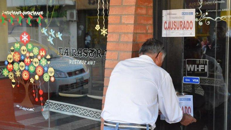 Clausuraron restaurante céntrico por falta de higiene y habilitación