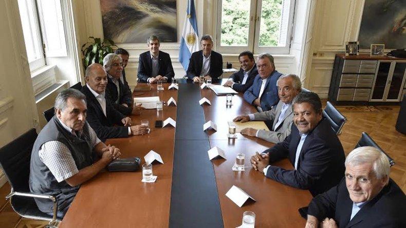Macri recibió en Casa Rosada a sindicalistas.