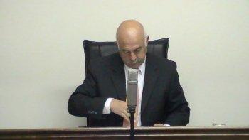 Foto. Juez Daniel Pérez.