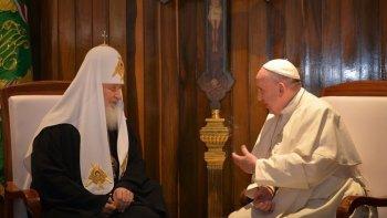 historico encuentro entre el papa y kiril