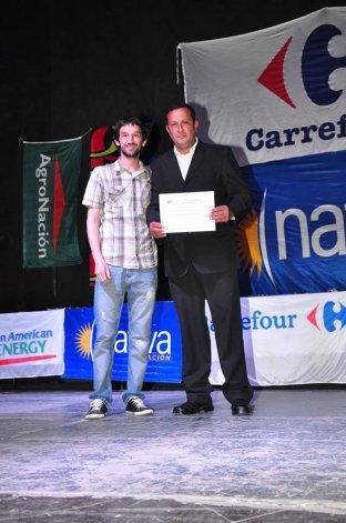 En un reconocimiento que le otorgó el CePeDe en 2014 a través del periodista Nicolás Mulet.