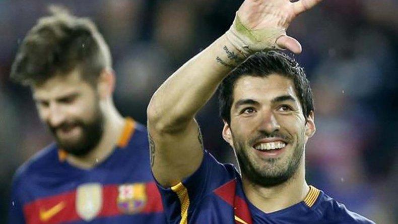 Luis Suárez marcó ayer tres goles en la victoria ante el Celta de Vigo.