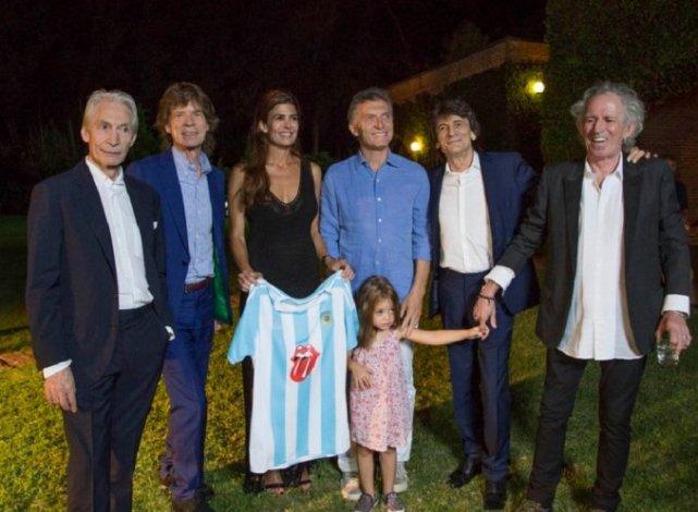 Macri recibió a los Rolling Stones en su quinta