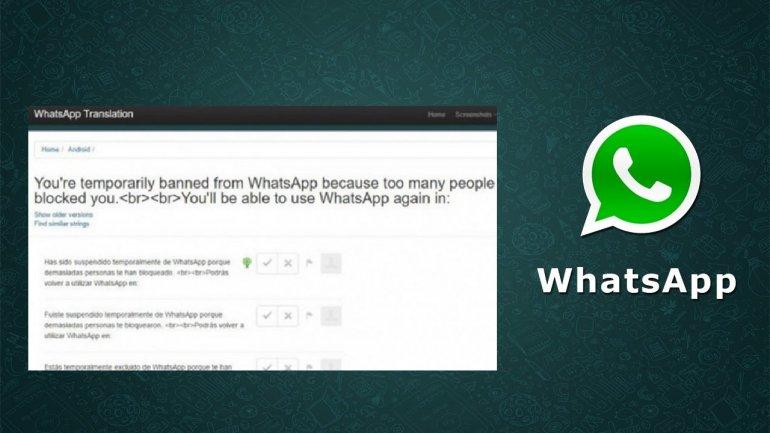 Alerta: pueden bloquearte la cuenta de WhatsApp