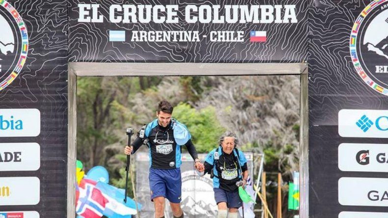 Tiene 81 años y corrió por tercera vez 100 kilómetros en la Cordillera