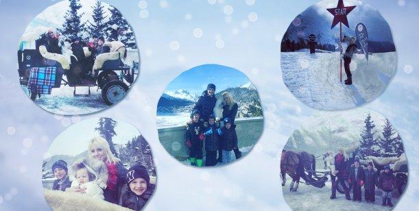 Las vacaciones de Wanda Nara y Mauro Icardi en Suiza