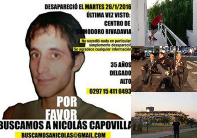 Tres semanas sin datos de Nicolás: la búsqueda se extiende por todo el país