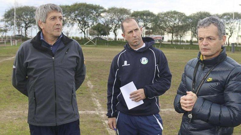 Ezequiel Guerreiro -derecha- será el coordinador de la nueva escuela de rugby de la CAI.