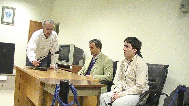 Leonardo Tascón cuando fue condenado por el robo en el que dejó cuadripléjico a un comerciante.