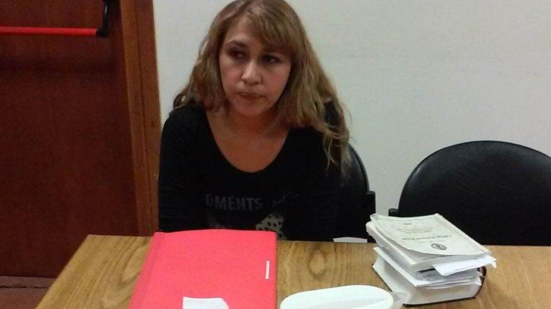 La funcionaria fiscal Rita Barrionuevo presentó la imputación en representación del Ministerio Público.