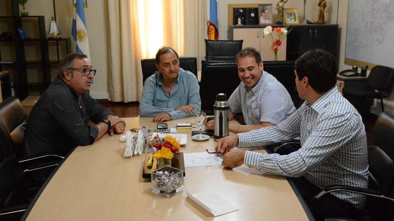 El encuentro del intendente con los diputados del FpV y Chubut Somos Todos.