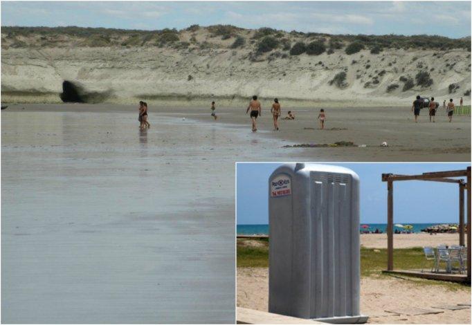 Robaron un baño público de la playa El Doradillo