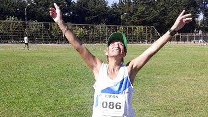 Rosana Calderero y su premio al esfuerzo que se tradujo en la consagración como campeona sudamericana de ruta Master.