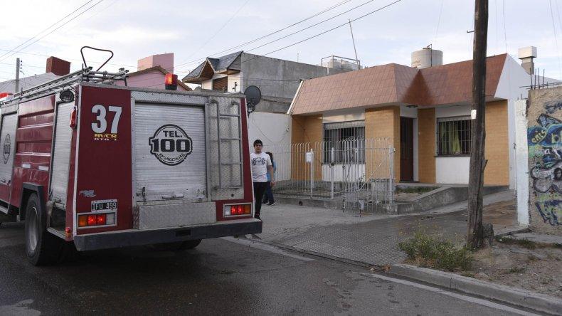 Se incendió el dormitorio de una casa en el Pueyrredón