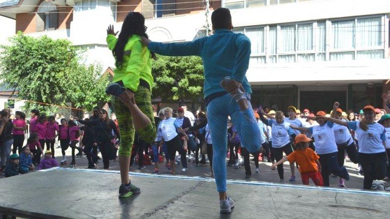 Camila participó de una jornada deportiva