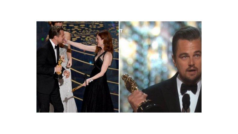 Por su actuación en The revenant, DiCaprio ganó su primer Oscar como Mejor Actor