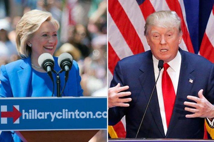 Clinton y Trump ante un momento cúlmine de la contienda electoral.