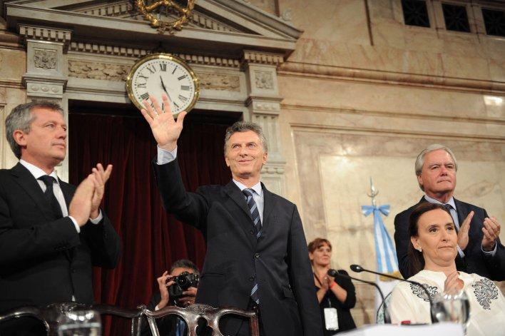 Mauricio Macri inauguró las sesiones ordinarias. Fue su primera vez como Presidente.