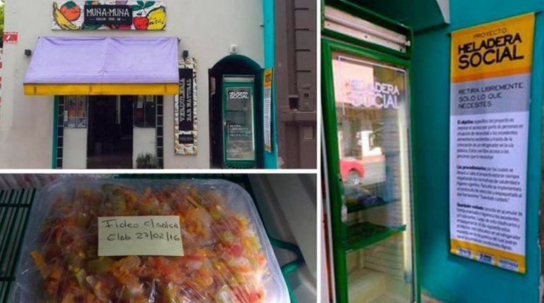 Crearon una heladera social para personas en situación de calle