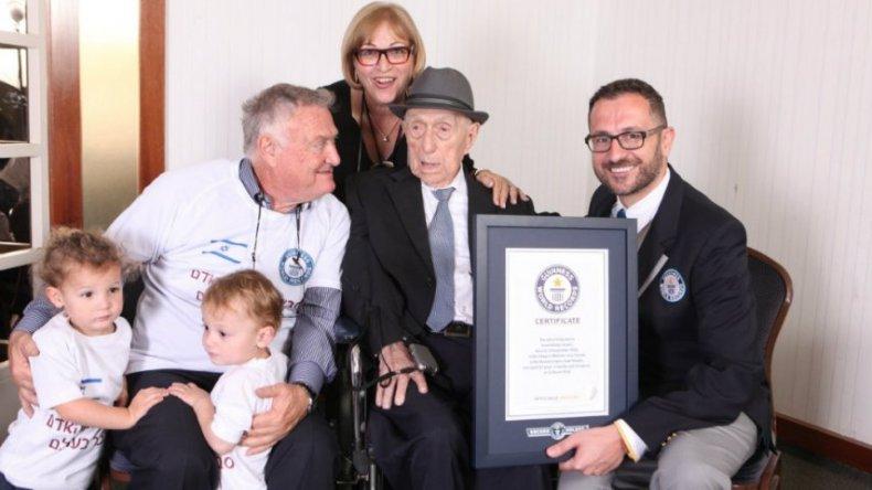 El hombre más viejo del mundo es sobreviviente del Holocausto