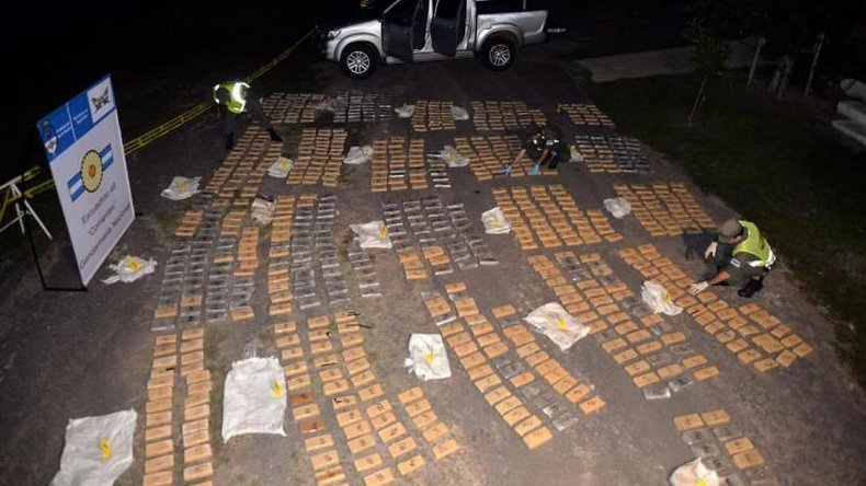 Secuestraron una tonelada de marihuana
