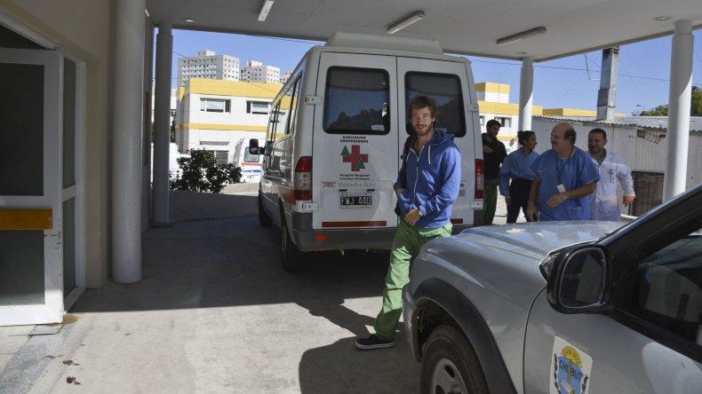 Así llegaban los expertos del Incucai al Hospital Regional para concretar la ablación de órganos.