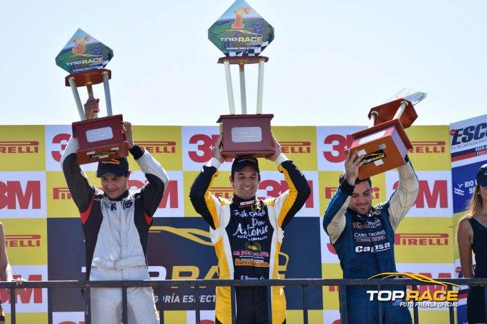 El podio de la Top Race Series liderado por Bruno Boccanera.
