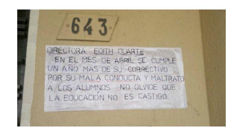 Docentes tomaron una escuela: piden que renuncie la directora