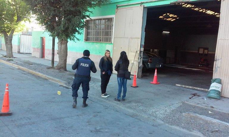 David Ismael Perán fue ultimado ayer a metros de la oficina de Obras Públicas de ese municipio