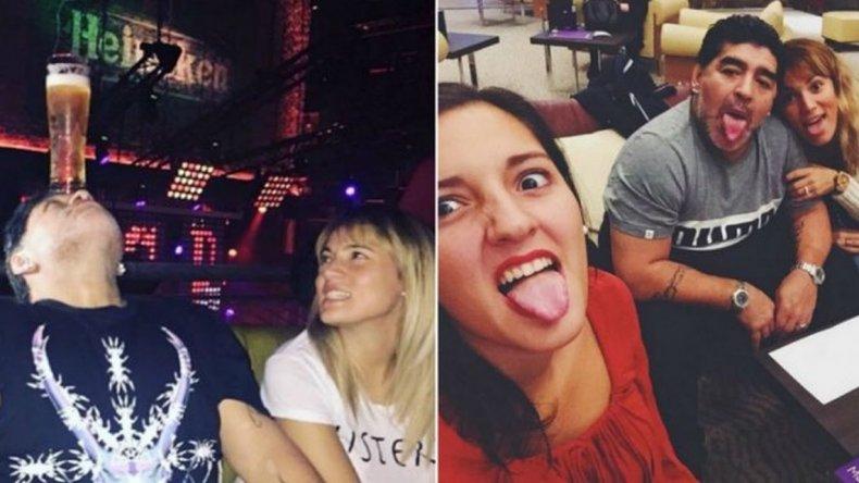 Jana Maradona viajó a Dubai a visitar a Diego y Rocío Oliva