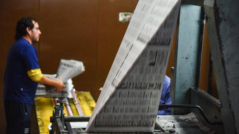 El Patagónico continúa imprimiéndose cada noche como sucede desde hace 48 años.