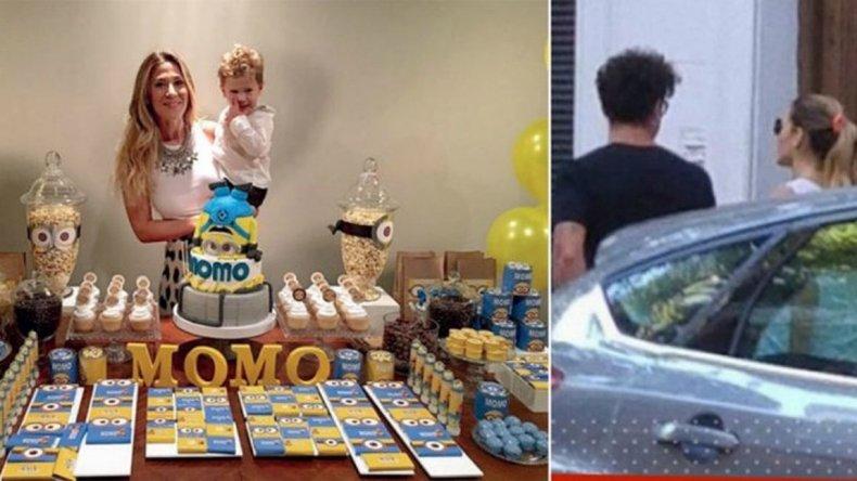 Jimena Barón y Daniel Osvaldo celebraron juntos el cumpleaños de su hijo Morrison