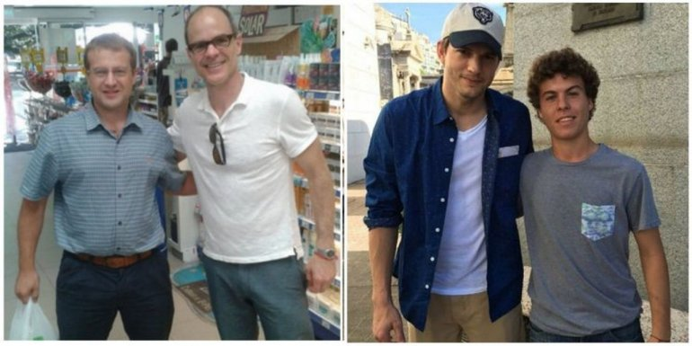 Ashton Kutcher y Michael Kelly en Argentina