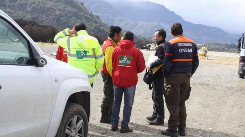 Chubut acordó un trabajo conjunto con Chile por incendios fronterizos